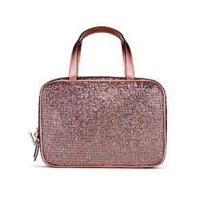 ♡ NEW Victoria Secret Rose Gold Travel Case ♡